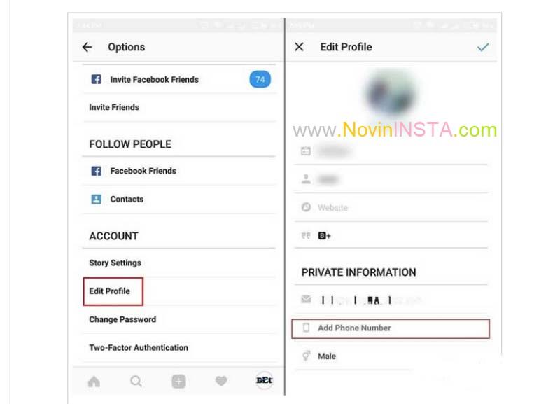 فهمیدن اکانت افراد از روی شماره تلفن , فهمید نام کاربرای افراد از طریق شماره تلفن در اینستاگرام