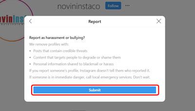 گزارش محتوای نامناسب اینستاگرام